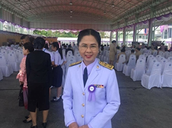 March 2, 2018. Associate Professor Dr. Nantiya Noichan, Dean of Faculty of Education Received a gift from HRH Princess Maha Chakri Sirindhorn. Grandmother On the occasion of His Majesty the King presiding over the Opening Ceremony of Siribelai School. Pua