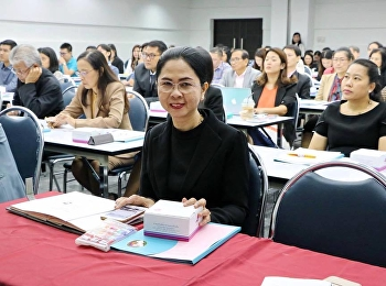 March 13, 2018. Associate Professor Dr. Nantiya Noichan, Faculty of Education, together with Faculty of Education, participated in the project development and added academic positions. Group 1 Fast Track at Meeting Room, 5th floor, Suan Sunandha Ra