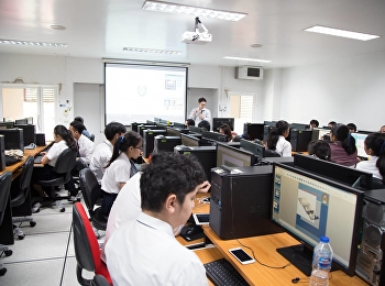 April 27, 2018 Lecturer, Prof.Aekkaphob Intarapoo Head of School of Educational Technology and Computer Arranging a workshop and presenting an interactive medium for AR (Augmented Reality) at the computer lab.