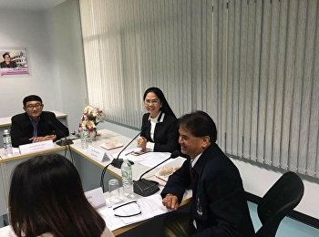 April 28, 2018. Associate Professor Dr. Nantiya Noichan, Dean of Faculty of Education At the meeting, the Faculty of Education, Suan Sunandha Rajabhat University was convened at the meeting room of the Faculty of Education, Suan Sunandha Rajabhat Universi