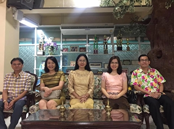 April 29, 2018. Associate Professor Dr. Nantiya Noichan Dean of Faculty of Education With the management and staff of the social studies. Join the Songkran Festival Social Studies
