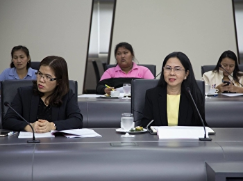 April 30, 2018. Associate Professor Dr. Nantiya Noichan, Dean of Faculty of Education, Dr. Kannika Piromrat, Associate Dean for Research and Academic Services With Research and Academic Staff Attend the meeting to clarify the guidelines for academic servi