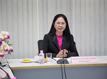12 มิถุนายน 2561 รองศาสตราจารย์ ดร.นันทิยา น้อยจันทร์ เป็นประธาน ประชุมคณะกรรมประจำคณะครุศาสตร์ ห้องประชุมคณะครุศาสตร์ 1124 มหาวิทยาลัยราชภัฏสวนสุนันทา