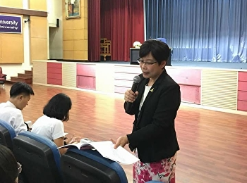 June 26, 2018 at Suntananusorn Hall Suan Sunandha Rajabhat University Teacher Training Experience Department of Education Services, Faculty of Education Student Orientation Project To prepare for the professional practice of the 4th year students by Dr. A