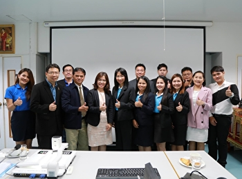 June 27, 2018. Karanee Piromrat, Associate Dean for Research and Academic Services, welcomed the Faculty of Education, Kamphaengphet Rajabhat University. Faculty of Education, Faculty of Education For the exchange of learning Enhance the efficiency and ef