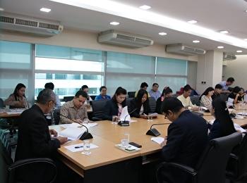 18 ตุลาคม 2561 รองศาสตราจารย์ ดร.นันทิยา น้อยจันทร์ คณบดีคณะครุศาสตร์ เข้าร่วมประชุมการติดตามความก้าวหน้าการดำเนินงานงบลงทุน งบประมาณแผ่นดิน ประจำปี 2562 ณ ห้องประชุม ยุทธศาสตร์ อาคาร 32 ชั้น 4