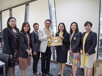 On January 7, 2019, Associate Professor Dr. Nantiya Noichun, Dean of the Faculty of Education, along with executives and personnel, met with the administrators of Suan Sunandha Rajabhat University. To give a basket On the occasion of the new year 2562