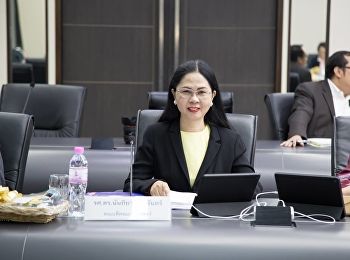 January 7, 2019 at 9:30 am Associate Professor Dr. Nantiya Noichan, Dean of the Faculty of Education, attended the meeting of the Executive Committee of Suan Sunandha Rajabhat University (MSPC) No. 1/2562 with Associate Professor Dr. RoteDej Kerdwichai, P