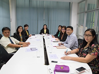 On January 7, 2019 at 9:30 am, Associate Professor Dr. Nantiya Noichun, Dean of the Faculty of Education, presided over the meeting of the Faculty of Education at the Office of the Faculty of Education's 3rd floor.