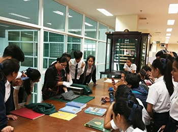 study visit on books, writers and inscriptions To learn the writing system and to link the relationship of the alphabet - each Thai language from the actual learning source at # National Library