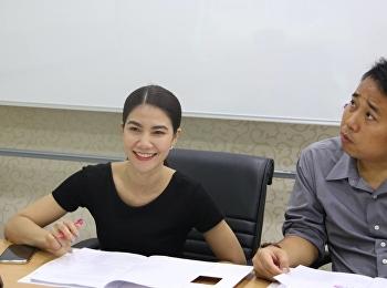 เข้าร่วมประชุม กับกองนโยบายและแผน ประชุมชี้แจงการคำนวณต้นทุนต่อหน่วยผลผลิต