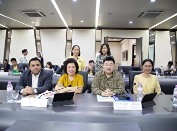 April 9, 2019, Associate Professor Dr. Nantiya Noichun attended the Suan Sunandha Rajabhat University Executive Committee Meeting No. 4/2562 at the University Council Room 31, 5th Floor, Suan Sunandha Rajabhat University.