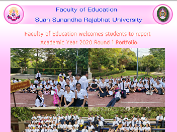 Faculty of Education welcomes students to report  Academic Year 2020 Round 1 Portfolio