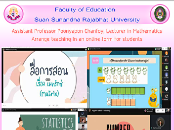 Assistant Professor Poonyapon Chanfoy, Lecturer in Mathematics Arrange teaching In an online form for students