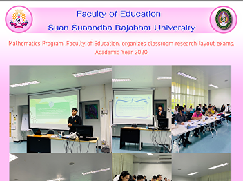 Mathematics Program, Faculty of Education, organizes classroom research layout exams. Academic Year 2020