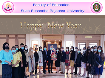 Executives and personnel of the Faculty of Education give a Happy New Year basket to the Vice Rector for University Council Affairs. And secretary of the university council